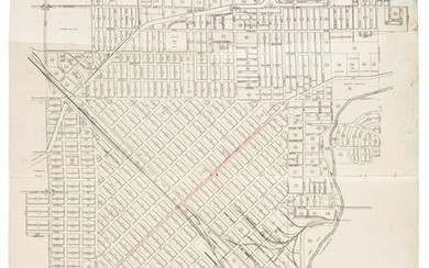 Early map of Modesto