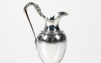 French Sterling Silver Ewer