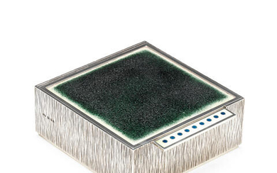 GERALD BENNEY: A rare silver and enamelled box