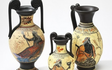 Group of (3) Ancient Greek replica pottery pieces