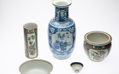 Group of Chinese Export Porcelain, 18th C and Later