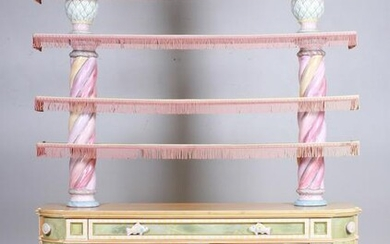 Mackenzie Childs sideboard with open etagere top