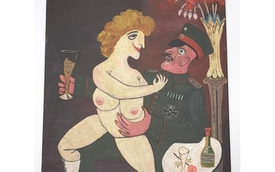 Oil on canvas depicting a WW1 Otto Dix style painting. Reser...