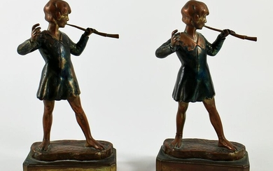 POMPEIAN BRONZE BOOKENDS