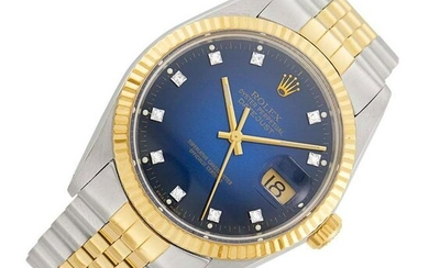 Rolex Gentleman's Stainless Steel and Gold 'Oyster