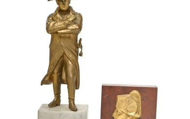 Two Napoleon Related Gilt Bronze Articles.