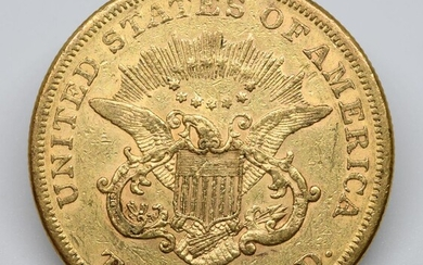 USA. Une pièce 20 dollars or. 1858. TB+