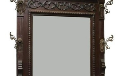 Victorian Carved Mahogany Hall Stand