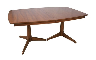 Walnut Double Pedestal Dining Table