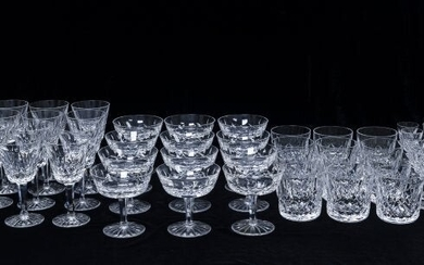 Waterford Crystal Glassware, 48 pieces.
