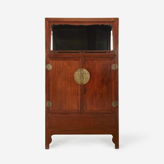 A Chinese Huanghuali and hardwood display cabinet