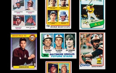 A Group of Seven Hall of Fame Baseball Rookie Cards