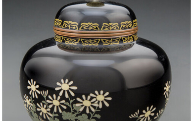 A Japanese Cloisonn Covered Jar Attributed to Hayshi Kodenji (Meiji Period)