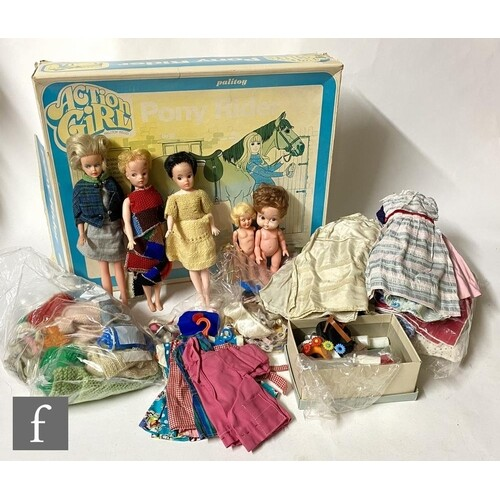 A Palitoy Action Girl Pony Rider set, comprising horse, sadd...