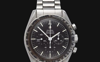 A Rare Pre-Moon Stainless Steel Chronograph Wristwatch, signed Omega, model:...