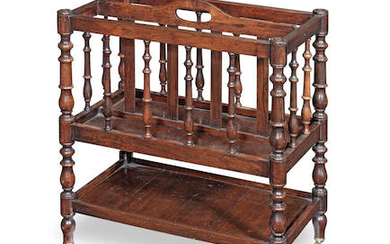 A Regency rosewood Canterbury of small proportions