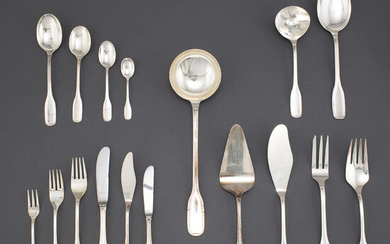 A Spanish silver cutlery service. (175 pieces).