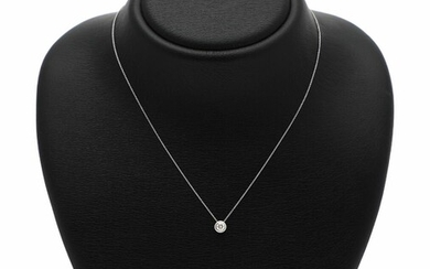 NOT SOLD. A diamond necklace set with a diamond weighing app. 0.35 ct., mounted in 14k white gold. L. app. 44 cm. – Bruun Rasmussen Auctioneers of Fine Art