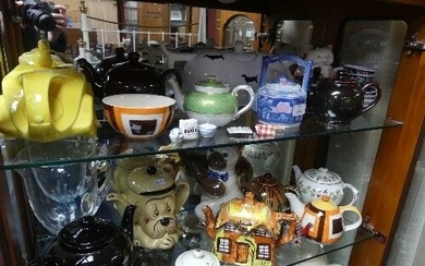 A quantity of novelty Teapots and various Ceramics, includin...