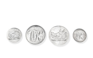 A small collection of 18th century silver buttons
