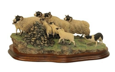 Border Fine Arts 'Gathering the Strays' (Sheep and Collie), model...