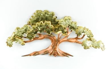 CURTIS JERE STYLE WALL MOUNTED TREE SCULPTURE