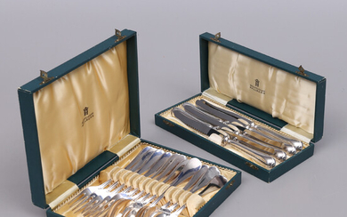 "CUTLERY SET, 18 parts, silver, ""Swedish"", total weight 1000 grams."