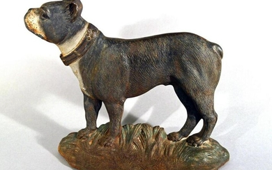Cast Iron Doorstop in the form of a Boston Terrier
