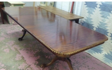 DINING TABLE, Chippendale design mahogany extending with a c...