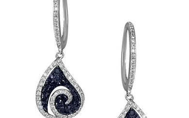 Earrings White Gold 18 K (Matching Necklace Available)