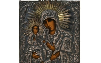 Eastern Orthodox Icon Virgin Mary and Infant Christ.