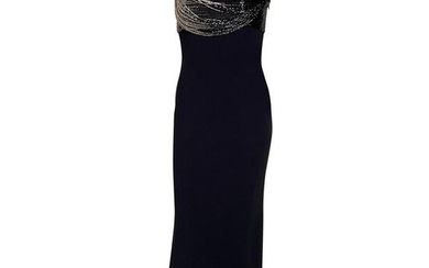 GIANNI VERSACE VINTAGE BLACK CORSET DRESS as seen on