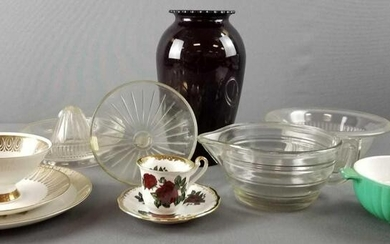 Group of 12 vintage kitchen items and more