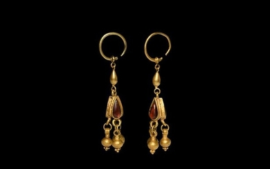 Hellenistic Gold Earring Pair