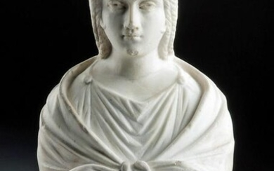 Important Roman Antonine Marble Bust of a Woman