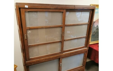 Large Antique Japanese Tansu Chest-on-Chest Campaign Cabinet