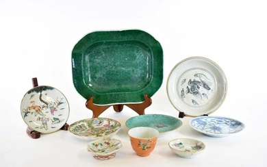 NINE CHINESE PORCELAIN TABLE ITEMS