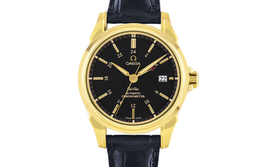 OMEGA, GOLD DE VILLE DUAL TIME AND DATE