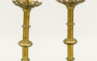 Pair of candlesticks, late 19th cen