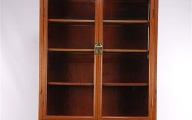 (-), Rosewood 2-piece cabinet with glass doors in...