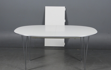 Piet Hein and Bruno Mathsson. Super Ellipse dining table with extension and tabletop (2)