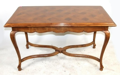 Queen Anne Style Table, Light Mahogany Finish
