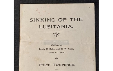 R.M.S. LUSITANIA: Rare pamphlet titled The Sinking of The Lu...