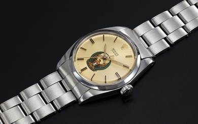 ROLEX, A STEEL OYSTER WRISTWATCH WITH UAE ARMED FORCES LOGO