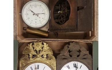 Three French Comtoise Clocks and the makings of a clock