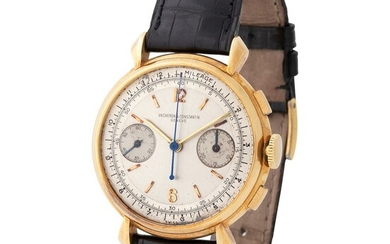 Vacheron Constantin. Fascinating and Attractive Round Shaped Manual Winding Wristwatch in Yellow Gold, Reference 4178, With Fancy Lugs