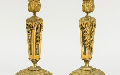 pair of candlesticks, 19th century