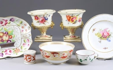 A Collection of English Porcelain Table Wares, 19th Century,...