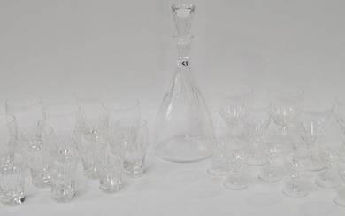 A SUITE OF FINE CRYSTAL DRINKING SET