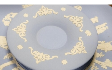 A collection of Wedgwood Jasperware to include: Wall clock,...